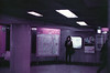read (m_travels) Tags: woman reading lomography japan tokyo film photography street people ginza analog lomochromepurplexr400 35mmfilm metro subway mood urban candid smcpentax50mmf12 pentaxkm