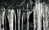 Winter's Icy Grin (Charles Opper [Catching Up]) Tags: canon cloudlandcanyon georgia winter blackandwhite cold dark grin ice icy monochrome nature rock teeth texture pattern detail