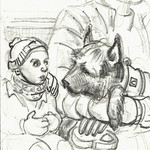 Small dog with large head on U5 by Suzanne Forbes Jan 17 2018 thumbnail