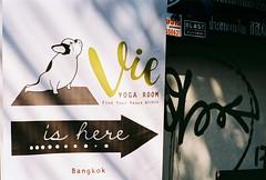 Yoga (35mm) (jcbkk1956) Tags: 50mmf14 manualfocus x700 minolta yoga thailand bangkok street analog film 35mm posters sign fitness health graffiti thonglo worldtrekker