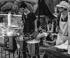 Thai noodles (s i a m) Tags: thailand th photographer bnw bnwofourworld noiretblanc noodles ricohgr streetstyle pictures monochrome monochromemonday monochromephotography people bnwbodylanguage thaifood food