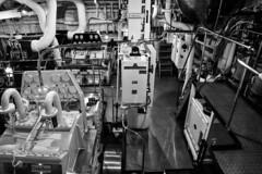 HM Royal Yacht Britannia Engine Room (rustyruth1959) Tags: nikon nikond5600 tamron16300mm uk scotland edinburgh portofleith leith hmroyalyachtbritannia royalyachtbritannia royalyacht yacht britannia boat ship vessel monochrome bw blackandwhite engineroom royalyachtengineroom gearbox engines machinery pipes tubes metalwork metal railings walkway dials controlpanal chrome pametrada charlesalgernonparsons marineengines britishengineering turbines steam indoor propulsion steamturbines