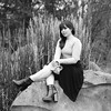 The Edge of Adventure (lancekingphoto) Tags: model outdoors outdoorportrait ijamsnaturecenter bronicasq zenzanon80mm mediumformat 120film aristaeduultra200 blackandwhite bwfp knoxville tennessee thesouth