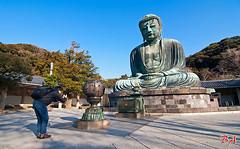 Capturing the Buddha (Benisius Anu) Tags: buddha statue kotokuin daibutsu kamakura japan temple kanagawa