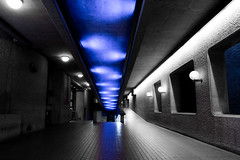 Barbican Centre London (The Ultimate Photographer) Tags: barbican centre museum art bluelight blue architecturepurist brutalist brutalistarchitecture line symetrie curve light lighting architect london uk england streetphotography ultimatephotographer olympus em1 omd