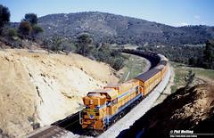 3221 A1514 22 coach train Windmill Hill Toodyay 18 July 1982 (RailWA) Tags: railwa philmelling westrai 1982 a1514 22 coach train windmill hill toodyay