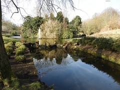 PARK FOUNTAIN LAKE (garydavidworthington) Tags: liverpool seftonpark river trees uk reflection cool sky water lake birds fountain stones waterfall park nikon