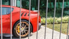Caged Monster (Mattia Manzini Photography) Tags: ferrari f12 tdf f12tdf supercar supercars cars car carspotting nikon v12 red gold limited automotive automobili auto automobile sancesario italy italia pagani paganiautomobili museopagani