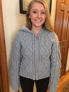 Sweet teen in aranstyle knitwear
