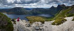 Climbing Cradle Mountain, Tasmania (Catherine Gidzinska and Simon Gidzinski/grainconno) Tags: tasmania australia mountain mountains samsungs8 cradlemountain panorama dovelake lake tas