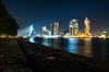Visiting Rotterdam (Marc.van.Veen) Tags: rotterdam bridge night stars longexposure city citylights leafs buildings building skycrapers water