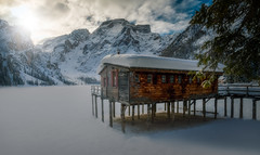 Winter Dreams (Croosterpix) Tags: landscape winter snow white lake pragser nature dolomites italy sony a7r nikkor1835 croosterpix