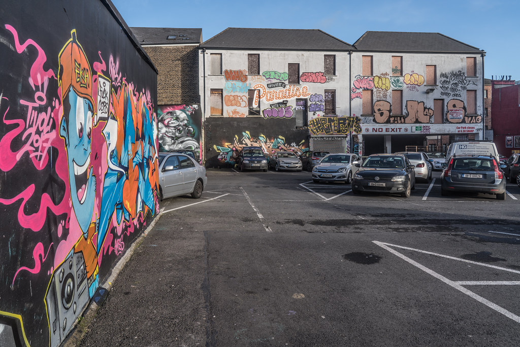 STREET ART AT THE TIVOLI CAR PARK IN DUBLIN [LAST CHANCE BEFORE THE SITE IS REDEVELOPED]-135655