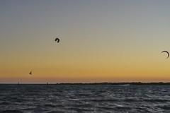 Flying (Stueyman) Tags: sony ilce alpha 55mm za zeiss wa westernaustralia perth rockingham warnbro sunset sea sky ocean indianocean kite surfer kitesurfer