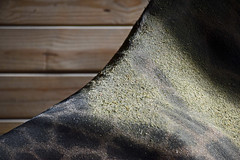 Dust on Tatu's Back (MTSOfan) Tags: giraffe barn giraffebarn lvz socialize socialization dust tatu sunlight back