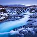 Bruarfoss - der eisblaue Wasserfall