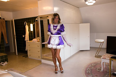 I'm all yours (chantal_fouet) Tags: tv cd tg stockings nylon satin sissy maid
