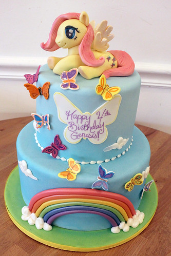 My Little Pony Butterfly Rainbow Cake