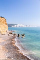 Looking down on Hope Gap, East Sussex, UK (Zoë Power) Tags: hopegap sevensisters uk whiterocks chalkcliffs seaford beach coast eastsussex whitecliffs