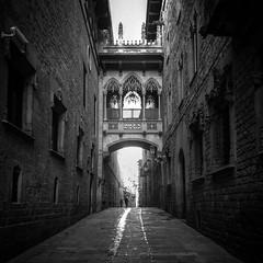 Barrio gótico de Barcelona (Luis_nx01) Tags: byn street barrio gótico barcelona