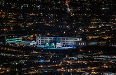 over balboa high school (pbo31) Tags: bayarea california nikon d810 color february 2018 winter boury pbo31 sanfrancisco city urban night dark black over lightstream traffic motion roadway crocker view highschool balboa dalycity