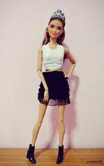 PUNK PRINCESS (youngheart98) Tags: barbie fashionistas made move models tall petite original curvy 69 62 51 16 chic orangetop redhead blue kira marina asha lea kayla joyce closemouthgg bambi poseable rebodied restyled doll