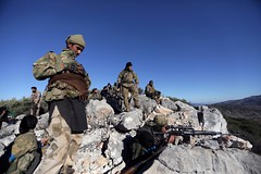 Syria pro-government forces enter Afrin to aid Kurds against Turkey (Biphoo Company) Tags: syria progovernment forces enter afrin aid kurds against turkey