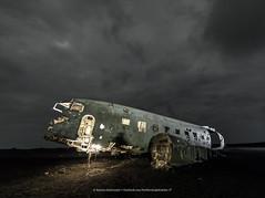 Dc 3 Planewreck (Kjartan Guðmundur) Tags: iceland ísland dc3planewreck nightscape sand sky night clouds canoneos5dmarkiv sigma14mmf18art kjartanguðmundur arctic photoguide tourguide