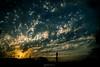 blue & gold (gaston torre .) Tags: blue gold sunset atardecer sol ciudad nubes clouds dorado yellow amarillo rosario argentina nikon sigma dark night noche