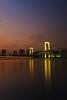 Rainbow (stuigi) Tags: japan tokyo odaiba rainbow bridge sunset dusk bay longexposure sky water night