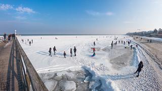 Spaziergang auf der Ostsee