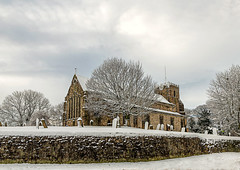 Winter in the village 18-1-2018 (KS Railway Gallery) Tags: easington village winter day snow st marys church