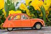 We miss springtime... (EatMyBones) Tags: 2cv car citroen figurine miniature poseskeleton rement skeleton toy toyphotography