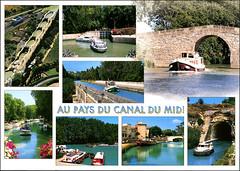 postcard - Canal du Midi 1-2 (Jassy-50) Tags: postcard canaldumidi france multiview boat canal unescoworldheritagesite unescoworldheritage unesco worldheritagesite worldheritage whs