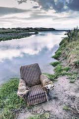 Seat with a view (Russ Dixon Photography) Tags: russdixon russdixonphotography newzealand newplymouth taranaki coastline coastal beach abandoned derelict fujixe2