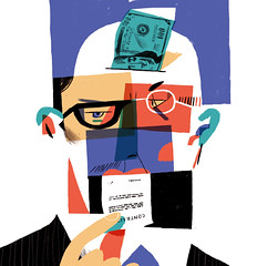 Corruption (sergiy, zagrawa) Tags: economy corruption editorial illustration man money face hand
