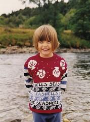 Abigail in Scotland 1990's (Bury Gardener) Tags: family friends relatives oldies snaps scans people folks children child kids 1990s