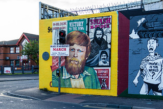 UK - Northern Ireland - Belfast - Falls Road - Independentist Murals
