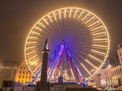 Lille. Francia. (Lourdes Olmos. lolmost) Tags: lille france nocturna navidad niebla grandplace lourdesolmos 2018