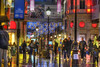 Printemps (albyn.davis) Tags: night lights lamps colors colorful red yellow blue shopping street rain wet people bright vivid vibrant paris france europe city urban light