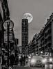 La tour Montparnasse (vostok 91) Tags: vostok91 fujix20 fujifilm france îledefrance paris tour montparnasse noiretblanc nb bw blackandwhite monochrome moon lune voiture ville sneapseed doubleexposition