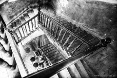 Old stairwell (vasyl.rohan) Tags: stairwell old art monochrome lviv architecture photography photographer city