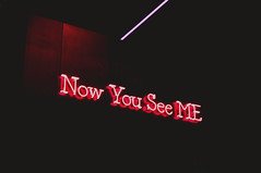 now you see me. (Virginia Gz) Tags: mebymeliá meliáhotels neon fitur fitur2018 ifema feriademadrid madrid spain españa neonsign