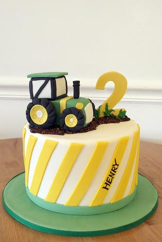 John Deer Tractor Birthday Cake