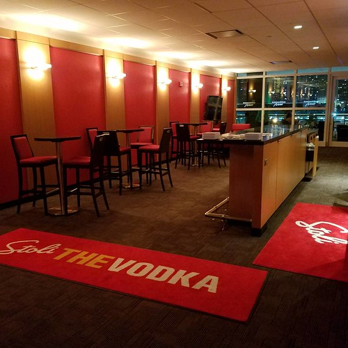 Our suite at the Heat game (courtesy of Viva Saloon's Stoli rep - we won them at trivia!)