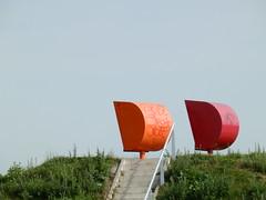 Same direction (saxofon03) Tags: hafen haven schiffe boote wasser sea elbe glück strandkorb minimalism farben