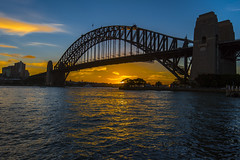 sydney harbour bridge (Greg Rohan) Tags: orangesunset sunset sun australia saltwater clouds blue orange harbourbridge sydneyharbourbridge d750 2018 nikkor nikon sea water ocean harbour sky bridge