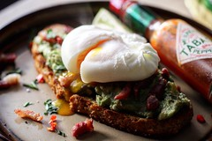 Breakfast in bed 🌶❗️ (TwoPenceMedia) Tags: ahhhh spicy munchies beautiful yummy breakfast gourmet delicious smashed kerrygold tobasco green avocado brownbread egg eggporn food