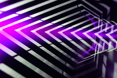 Hyperspace Bypass II (stephenk1977) Tags: australia queensland qld brisbane nikon d3300 studio hyperspace bypass futuristic tunnel wipeout strobe pwm purple ledlenser p7qc light painting art blade blading brushes