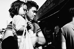 Father and Daughter (Meljoe San Diego) Tags: meljoesandiego ricoh grd4 grdiv streetphotography people candid monochrome alaminoscity philippines